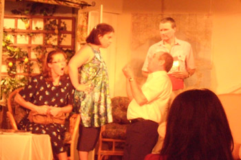 Blackham Country Players performing Fish out of Water